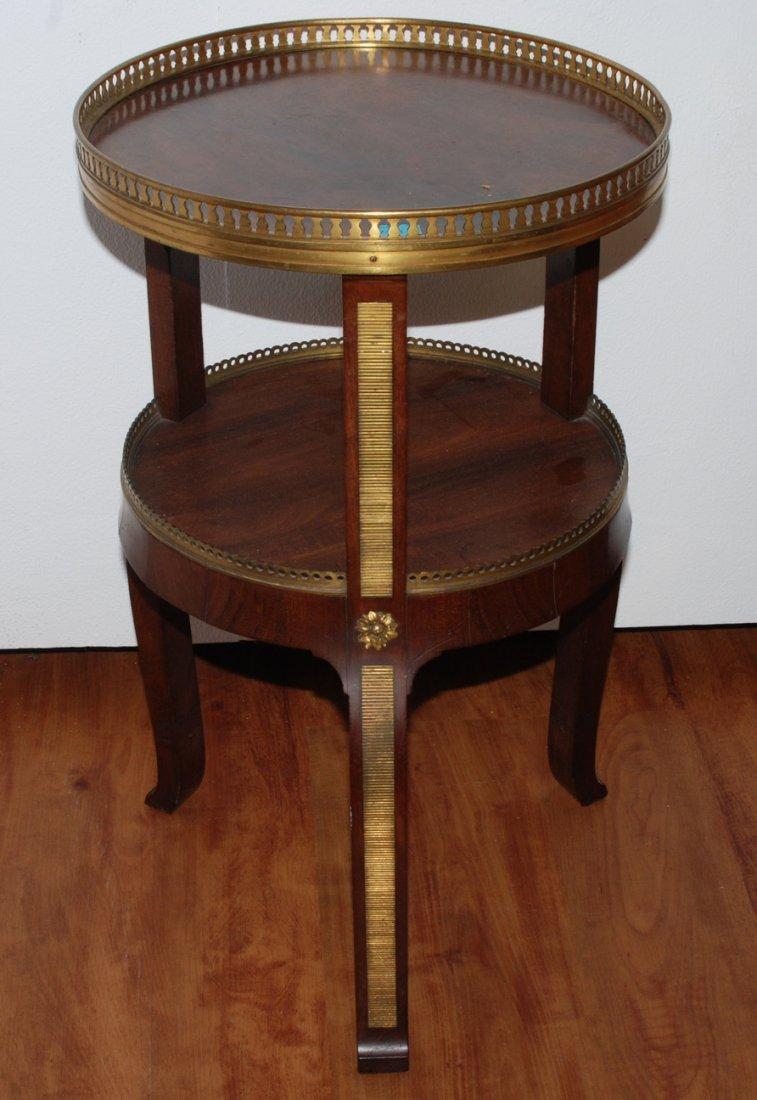 Gueridon Louis XV-Stil, 20.Jh. Mahagoni. Rundes Blatt