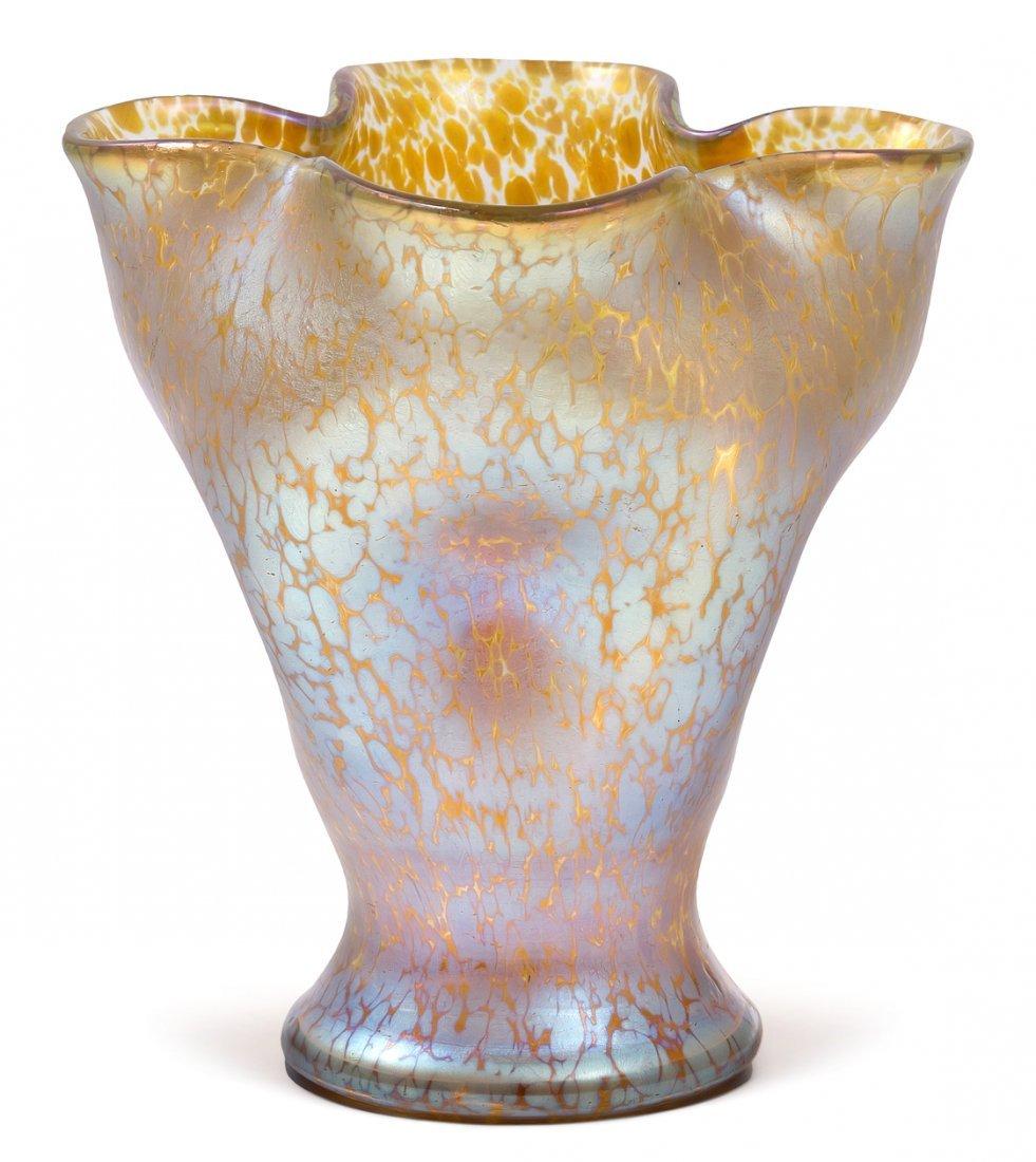 "Vase, Lötz Witwe Um 1900. Klostermühle. ""Candia"