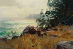 Paul Strisik, Evening Light, Monhegan Island, 1971