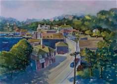 David Clough, Am. 20-21st Century Artist, Coastal Town