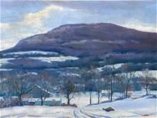 Frank Gervasi, Am. 1895-1986, Winter Landscape, Oil on