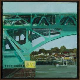 "Robert Solotaire, American. 1930-2008, ""Bridge Study"","