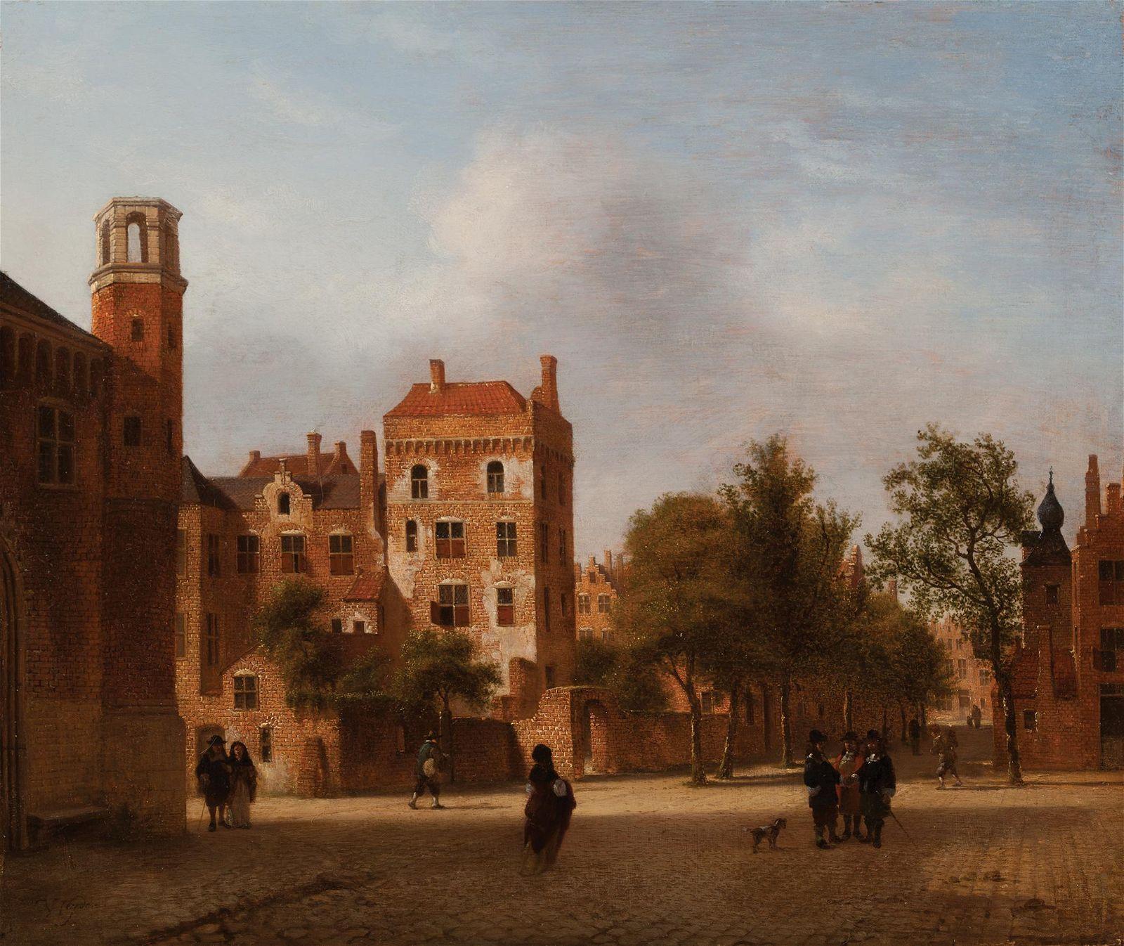 Jan Van Der Heyden, An Imaginary View of a Town with El