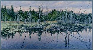 """Janice Anthony Am. 20th Century """"Abandoned Beaver Lodge"""