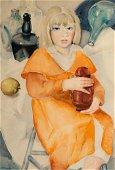 Antonia (Tony) Nell, Portrait of Girl in Orange, WC