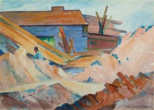 Elwyn George Gowen, Cambridge - Brick Works 1940, WC