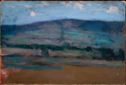 Hermann Dudley Murphy (Am. 1867 - 1945), Moonrise, O/C