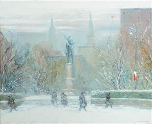 "Johann Berthelsen (Am. 1883-1972), ""Union Square, O/CB"