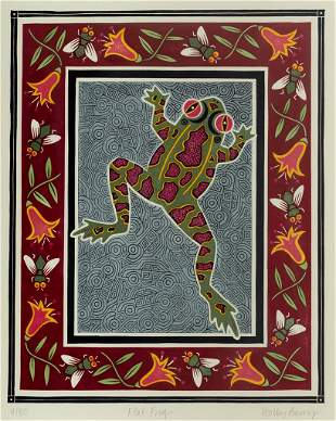 """Holly Berry (Am. Late 20th-21st Century), """"Flat Frog"""""""