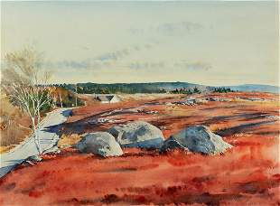 """Paul Rickert (Am. b. 1947), """"November Drive"""" 1990"""