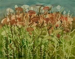 "John Wissemann (Am. 20th Century), ""Thistles"""