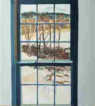 "Sheila Geoffrion (Am. Late 20th Century), ""Window Paint"