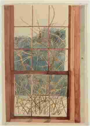 Sheila Geoffrion (Am. Late 20th Century) Winter Window