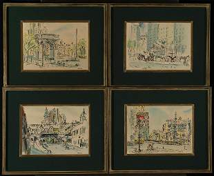 Betty Guy (Am. 1920-2016), Four Views of New York City