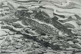 Neil Welliver (Am. 1929-2005), Brown Trout, 1978
