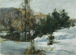 Betty Lou Schlemm (Am. b. 1934), Late Winter Landscape