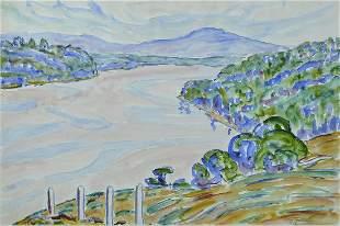 Allen Tucker (Am. 1866-1939) Landscape, 1936