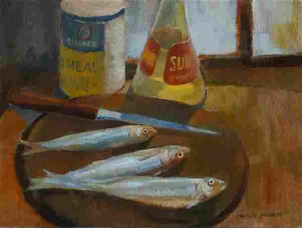 Charles Goodhue (Am. 1915-2005), Still Life with Fish