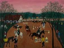 Pauline Braat (Dutch/Am. b. 1932), Equestrians