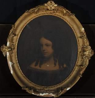 19th Century American School, Portrait of a Woman
