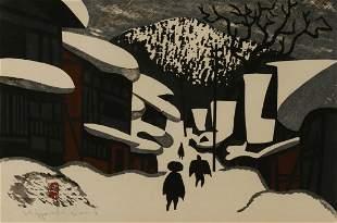 Kiyoshi Saito (Japanese 1907-1997), Aizu in Winter