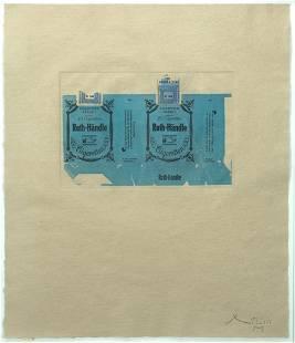 Robert Motherwell, Roth-Handle II (Blue), 1975,