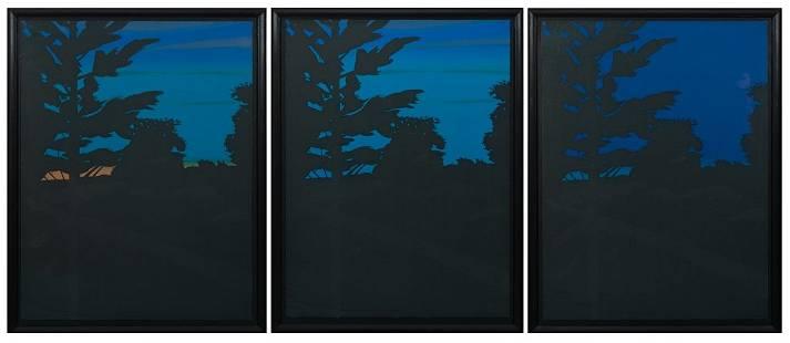 Alex Katz, Twilight Series, 1978, Three Works: 1-3],