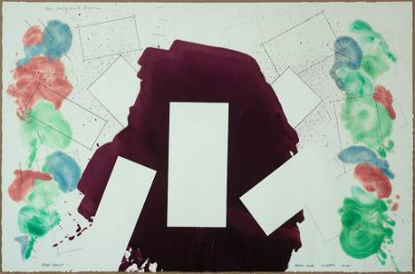 "Robert Reed, ""Plum Nellie, Bear Hug"" 1979, Mixed media"