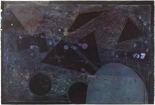 """Sam Gilliam, """"Chehaw"""" 1990, Woodblock, intaglio,"""
