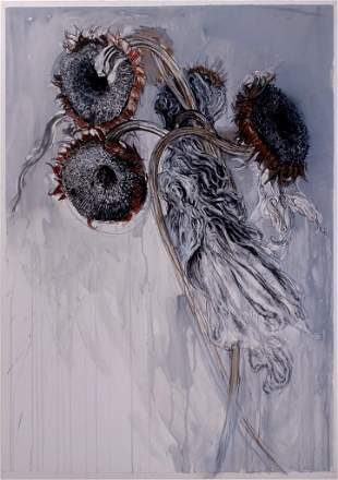 """Jimmy Wright, """"Sunflowers No. 1"""" 1994, Pastel and"""