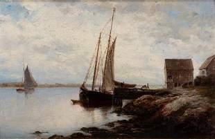 Hendricks A. Hallett, Ship in Port, 1880, Oil on
