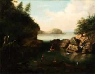 18th/19th Century American School, The Deer Hunt, Oil