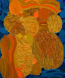 "Lynne Mapp Drexler, ""Yellow MonoLogue"" 1972, Oil on"