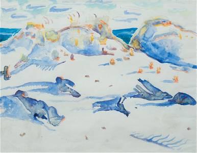 "Walter Inglis Anderson, ""Dunes-Horn Island"" 1958,"
