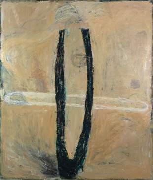 """Katherine Bradford, """"Pharoah"""" 1987, Oil on linen,"""