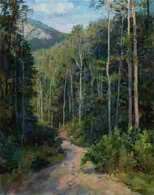 Joel Babb, Rough Road, 1994, Oil on canvas laid to