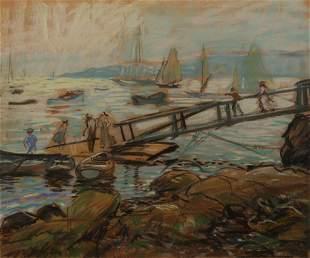 Arthur C. Goodwin, Eastern Pt. Gloucester, Pastel on