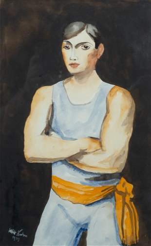 "Walt Kuhn, ""The Tumbler"" 1927, Watercolor on paper,"