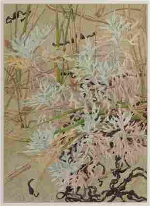 "Wendy Turner, ""Dusty Miller in Autumn"" 1984, Watercolor"
