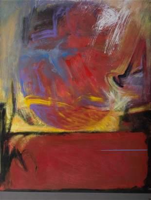 "Denis Boudreau, ""Fireball"" 2007, Acrylic on masonite,"