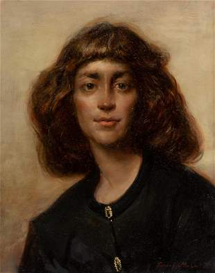 Frank Mason, Portrait of a Woman, 1991, Oil on panel,