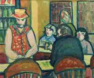 "Michael Willis, ""A Night at the Bethel Inn"" 1980, Oil"