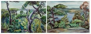 Carl Gordon Cutler, Two Works: 1] Islands through the