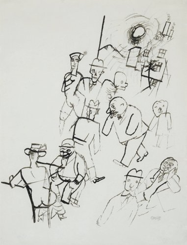 George Grosz, Street Scene ca. 1917–1920