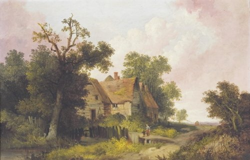 John Berney Ladbrooke, Mother and Child Near Home