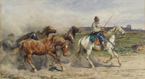 Enrico Coleman, Leading Horses in the Campagna
