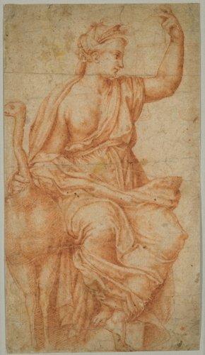 French-Flemish School, A Goddess, Probably Juno