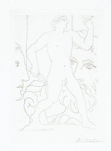Pablo  Picasso, Sculpture d'un jeune homme à la coupe,