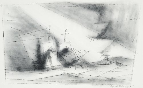 Lyonel Feininger, Off the Coast, 1951