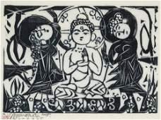 Shiko Munakata, Gautama and Bodhisattvas